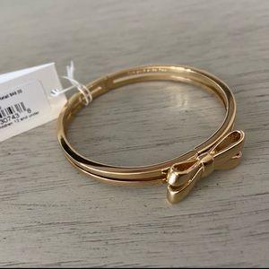 Kate Spade Mini Bow Bangle Gold Bracelet